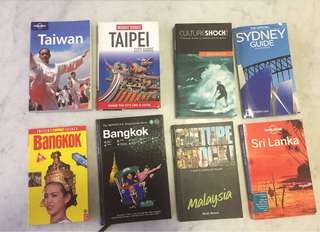 Various Travel guides- SGD 10 each