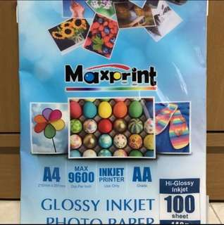 A4 Glossy Photo Paper 100pcs $15