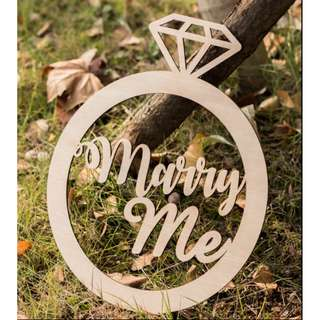 {PO} Marry me Calligraphy signage