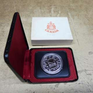 1978 Canada - Commonwealth Games - Silver Dollar with Case