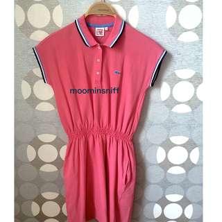 二手 法國鱷魚牌Lacoste 桃紅色洋裝