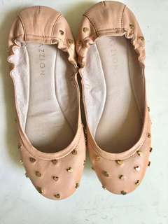 pazzion heart flat shoes
