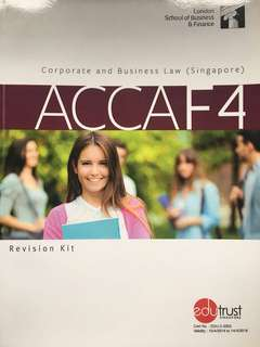 ACCA F4 - Corporate & Business Law (SGP) LSBF Revision Kit