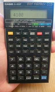 經典Casio fx-4100p Made in japan,  dot matrix LCD (剛換新電)