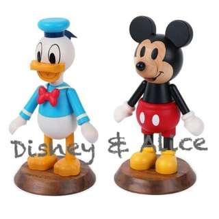 🚚 迪士尼 Disney / 木質擺飾公仔 / D265 / 唐老鴨 米奇 米老鼠 飾品 裝飾品 造景 拍攝道具 背景擺飾