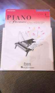 Piano adventures lesson 1