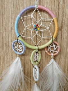 Rainbow Web Dreamcatcher