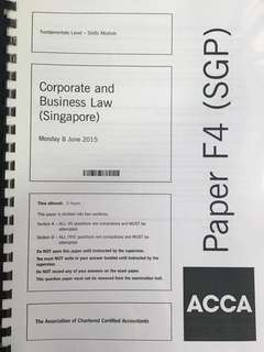 ACCA F4 - Corporate & Business Law (SGP) LSBF Questions Booklet