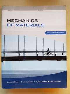 Mechanics of Materials - 5th Edition