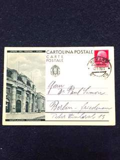 Italy 1933 Postal Card fm Merano, Italy to Berlin, Germany to Dr Paul Simon