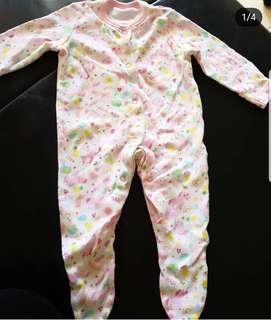 Baby Girl Sleepsuit 0-3M - George UK