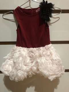 flowers dress red white