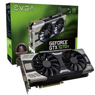 全新EVGA GeForce GTX 1070 Ti GAMING, 8GB GDDR5