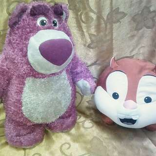 Soft toys chipsmunk n toy story