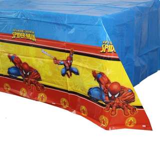💥 Superheroes Spiderman party supplies- tablecloth