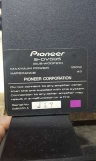 Pioneer sub woofer (Passive, No Amp)