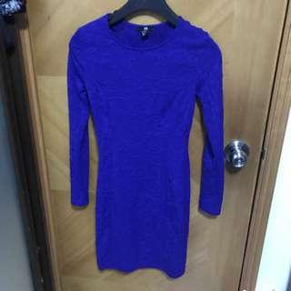 H&M blue dress size xs