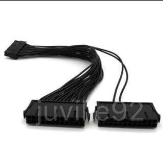 Dual power supply adapter (24pin ATX) Combine 2 PSU (add2psu)