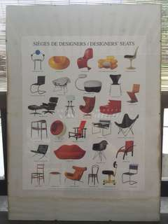 Poster of chairs (designer seats)