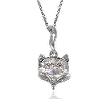Adorable Crystal Cat Necklace