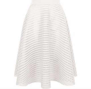 BN White Perfomated Mesh Skirt