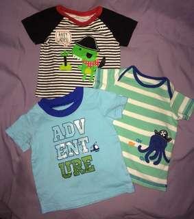 Lot of 3 baby tops