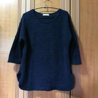 Blue Knitted Blouse
