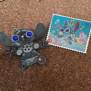 史迪仔 stitch 迪士尼 襟章 徽章 Disney pin Disneyland pins