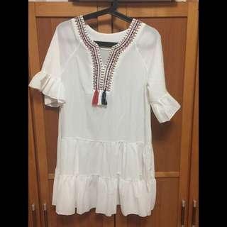 轉賣水莎圖騰民族風洋裝
