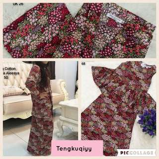 Sedondon Kakak & Adik English Cotton Selesa / Baju Raya/ Kebaya peplum