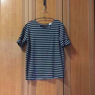 Striped Navy Top