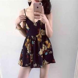 🚚 花朵細肩帶洋裝 #九月女裝半價