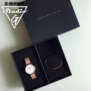 Daniel Wellington 32mm + cuff gift set