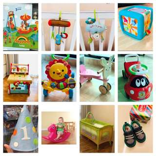 Baby toys and walkers and shoes clearance sales