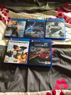 PS4 Games [NEED TO SELL THEM ASAP]