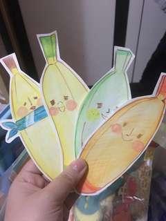 自畫既香蕉書簽