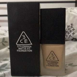 3CE STYLENANDA MATTE FIT FOUNDATION