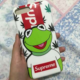 Iphone 7+ Supreme x Kermit Phone Case