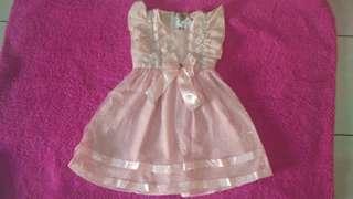 Gaun Anak Pink