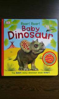 Dinosaur board book with audio sounds