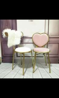 PO iron rod gold chairs