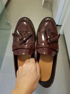 Women Tassel Loafers Shoes in Size 37