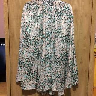 H&M Rok Denim Skirt Panjang Floral