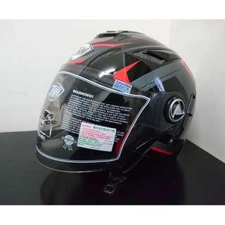 THH T-396 彩繪安全帽 內置型遮陽鏡片
