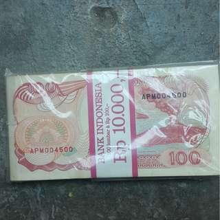 uang kertas 100 rupiah tahun 1992