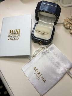 AGATHA 9K 羽翼戒指(12號)半價出售
