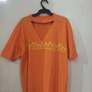 choker orange shirt