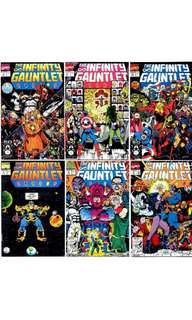 Marvel comics infinity gauntlet #1 - 6 VF/NM Unread