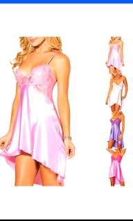 Free NM*Plus size Women's Sexy Lingerie Set Dress Babydoll Nightwear Underwear Sleepwear (self collect @ $8)/3 pcs lingerie/Stick on bra