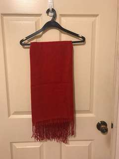 H&M red Shawl